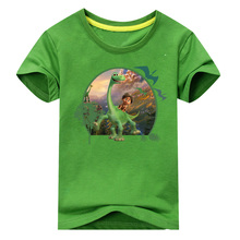 2018 Boy The Good Dinosaur T Shirt Children Summer Cartoon Printed Clothes Girl Cotton T-shirt Baby 10 Colors Tee Tops ACY005