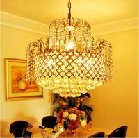 30w Modern Crystal Chandeliers Ceiling Fixtures Flush Mount 4 E14 Halogen Bulbs Chandelier Lamps For Home