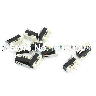 10Pcs 3 Pin SPDT Short Hinge Lever Micro Limit Switch KW10 AC 125V 2A 5pcs miniature switch long lever arm actuator spdt limit mini micro switches 2a 125v