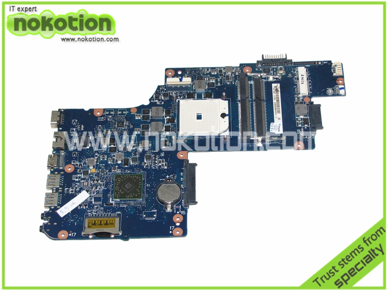 H000041530 Laptop Motherboard for Toshiba Satellite L850D C850 PLAC CSAC UMA MAIN BOARD REV 2.1 AMD DDR3 h000042190 main board for toshiba satellite c875d l875d laptop motherboard em1200 cpu ddr3