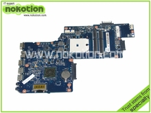 H000041530 Laptop Motherboard for Toshiba Satellite L850D C850 PLAC CSAC UMA MAIN BOARD REV 2.1 AMD DDR3  nokotion v000185570 6050a2313501 main board for toshiba satellite l505 laptop motherboard hm55 ddr3 hd4500 discrete graphics