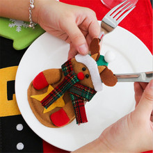 Christmas Decoration 3Pcs Set Cutlery Silveware Holders