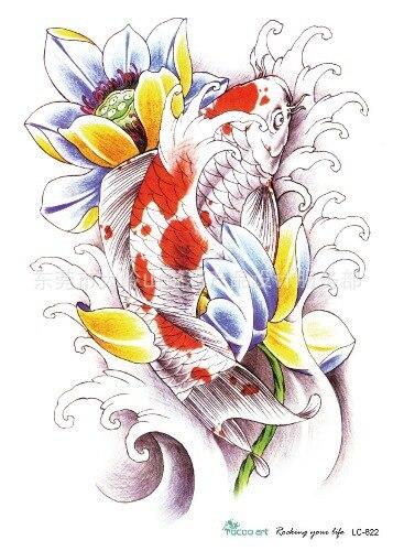 Achetez en gros japonais fleurs tatouages en ligne des for Grossiste carpe koi