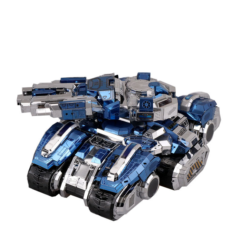 Colorful Siege Tank Fun 3d Metal Diy Miniature Model Kits Puzzle Toys Children Educational Boy Splicing Hobby Building diy assembly puzzle metal intelligent control robot children educational toys
