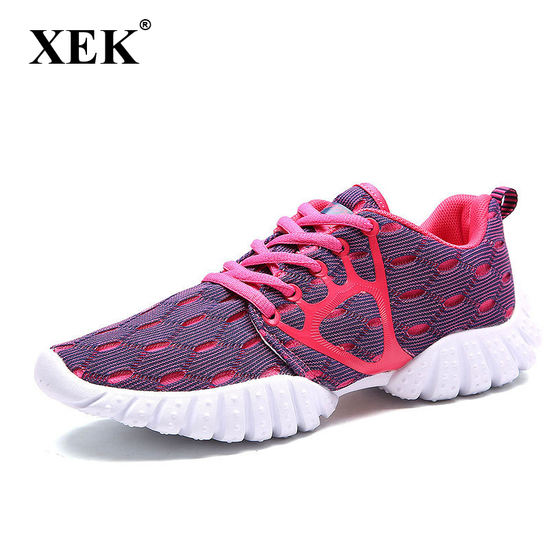 XEK 2018 New Women's Shoes Flats Sneakers Students Breathable Mesh Women Casual Shoes Yeezys Couple Lovers Shoes JH141 браслет классика 6 12 тигровый глаз