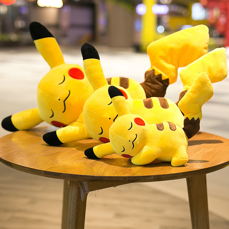 Hot Sale Cute Pikachu Plush Toys Kawaii Anime Characters Stuffed Soft Doll Kids Toys Children Birthday Christmas Gift home decor in Stuffed Plush Animals from Toys Hobbies