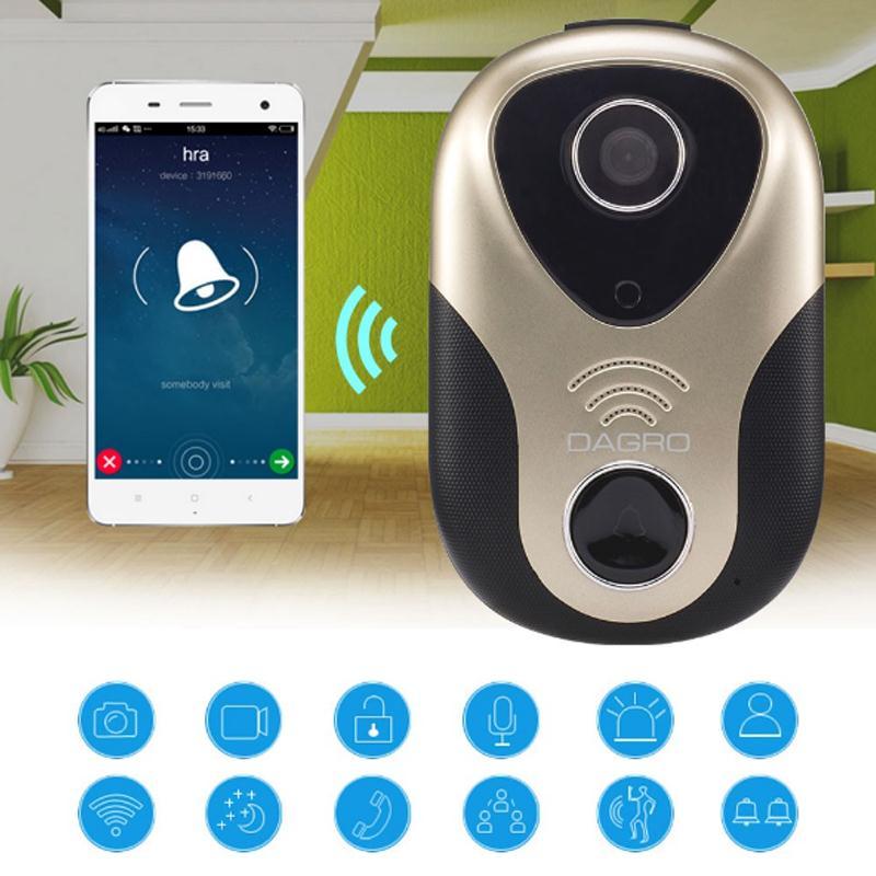 Giantree HD Wifi Doorbell Camera Phone Remote Control Intercom Listening IP Camrea Doorbell Voice Alarm Night Vision