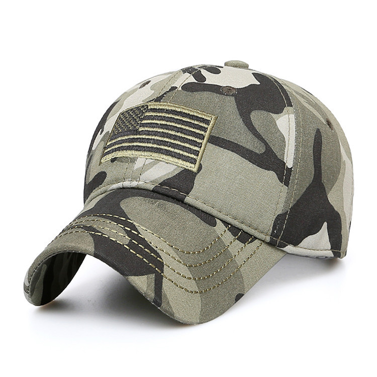 a8409f48e5d New Men USA Flag Camouflage Baseball Cap Army Embroidery Cotton Tactical  Snapback Dad Hat Male Summer