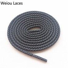 Weiou безопасная светоотражающая лента 3M круглые веревочные шнурки спортивные ночные прогулки для бега шнурки Регулируемый расклешенные под ботинки для детей 350 750 Баскетбол