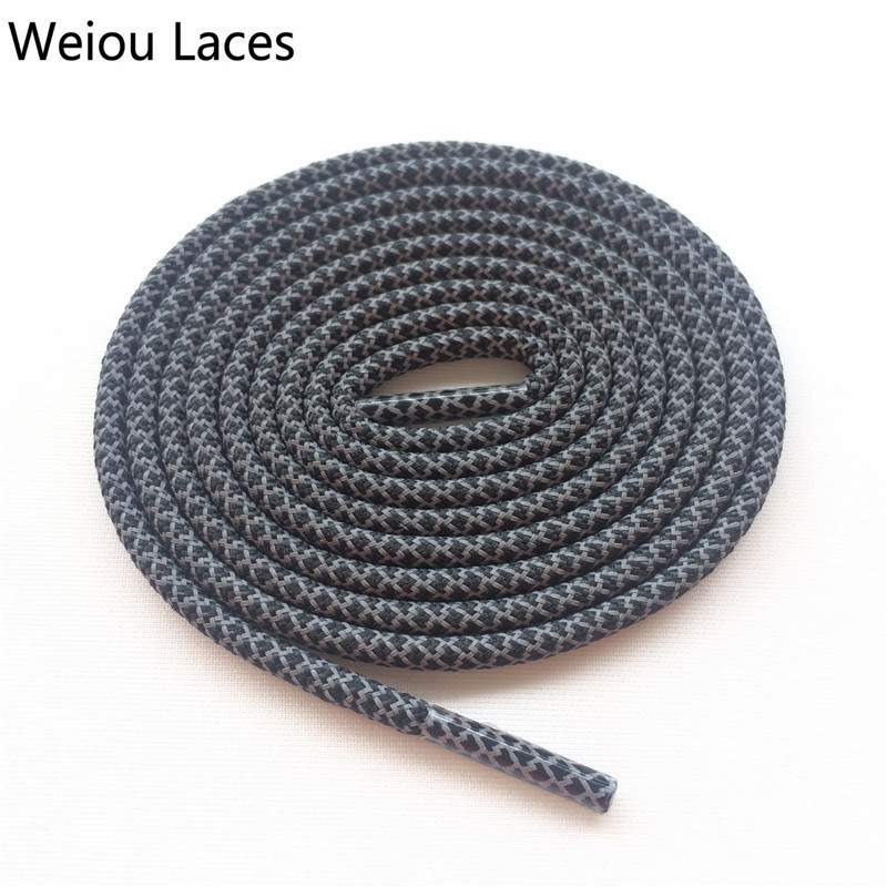 Weiou Safty 3M Reflective Round Rope Shoe Laces Sports Night Walk Running Shoestrings Adjustable For Boost 350 750 Basketball oumily reflective multi purpose paracord nylon rope cord reflective grey 30m 140kg