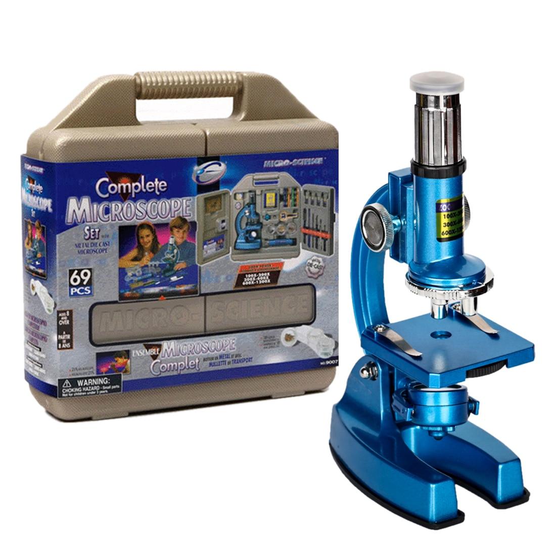 DIY 100X 200X 300X 600X 1200X Hd gran angular microscopio óptico puzle análisis celular equipo Experimental Stem Toy para niños - 3