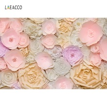 Laeacco Flowers Birthday Party Wedding Handmade Wall Decor Baby Portrait Photography Backgrounds Photo Backdrops Stuido