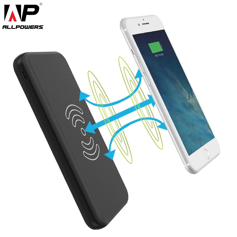 Все Мощность S Запасные Аккумуляторы для телефонов 8000 мАч внешний Батарея QI Беспроводной Зарядное устройство Тип c dual <font><b>usb</b></font> телефон Зарядные ус&#8230;
