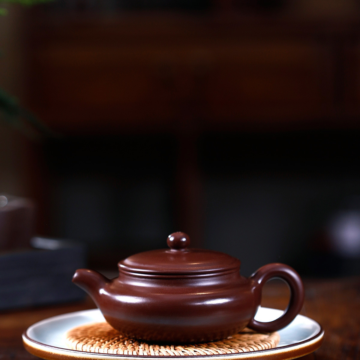 有名なフルマニュアル原石紫と赤泥フラット腹部偽何かアンティークケトルカンフーオンラインティーポット茶セットスーツ -