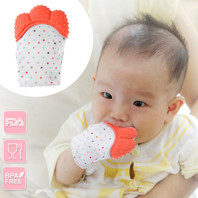 Baby Silicone Teether Glove Chewable