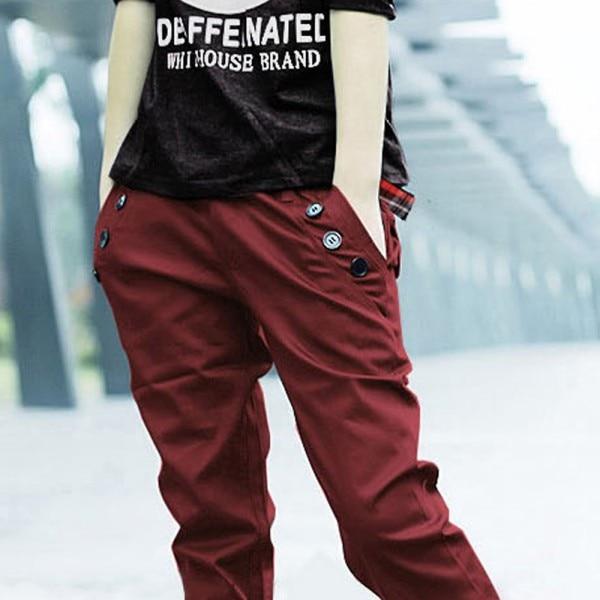 Coolred-Men Trousers Combat Decoration Straight Cotton Leisure Pants