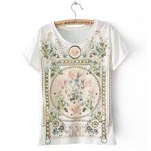 Women Casual  Vintage Elegant Floral Print T-shirt