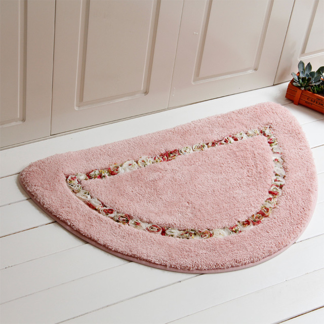 SunnyRain 1 Piece Pastoral Shaggy Semicircle Area Rug And Carpet For ...