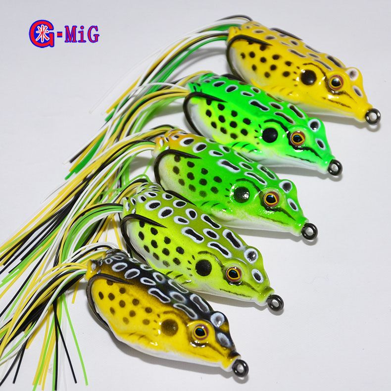 Mig 5 color hot hot sale topwater frog hollow body for Frogs for fishing