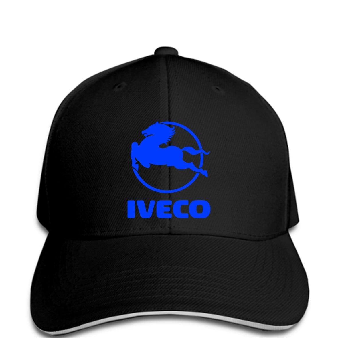 Hombres gorra de béisbol camión Iveco Logo blanco negro gráficos snapback  sombrero mujeres ff9bf0f758c