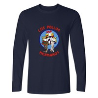 Two Step Breaking Bad Los Pollos Hermanos Tshirt Male Tops Brand Clothing Hipster T Shirt Long