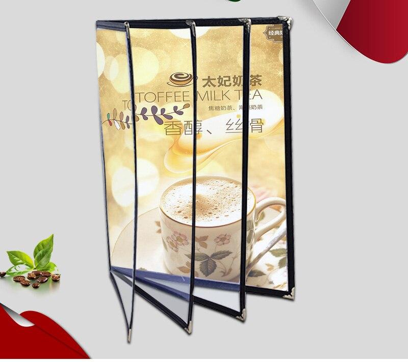 Applicable To A5 / 2/4/6/8/ Sheet Panel Plastic Menu Clip Transparent Menu Book Cover