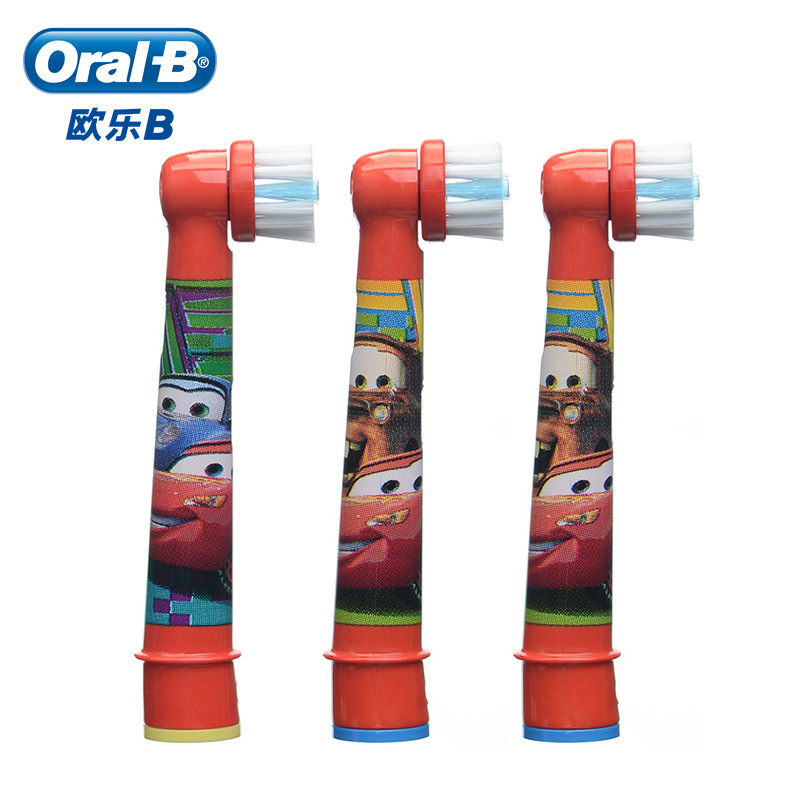 Electric Toothbrush Heads Oral B Heads Nozzle For Brush OralB Stages Power Pro Disney Cars Replacement Toothbrush Head EB10 3PCS image