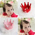 Beautiful Baby Girls Red and Pink Crown Hairpins Clips with Small Dot Kids Children DIY Crafts Hair Decorative Accessories