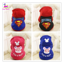 Dogbaby Fashion Pet Dog Costume Thick Jacket Winter Warmer Hooded Sweater Cute Cartoon Clothing For Small Puppy Dogs roupa  SG13