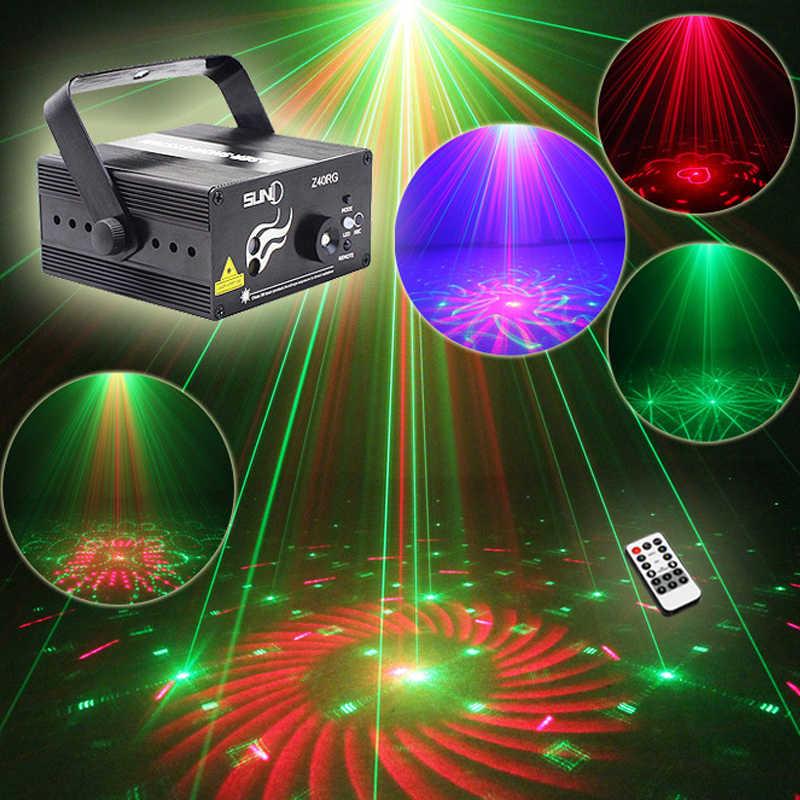 Дистанционное/Авто/Звук RGB сценическое освещение 3 объектива 40 моделей лазерное сценическое освещение эффект DJ домашняя вечерние шоу музыка Рождество Xmas Wedd