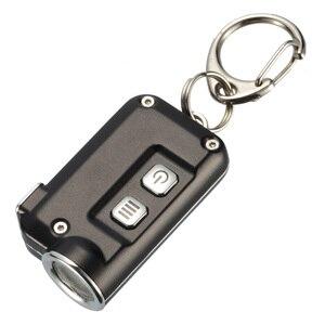 Image 5 - 2018 Nieuwe Nitecore Tini 380 Lumen Micro Usb Opladen Mini Metallic Sleutelhanger Licht Zaklamp