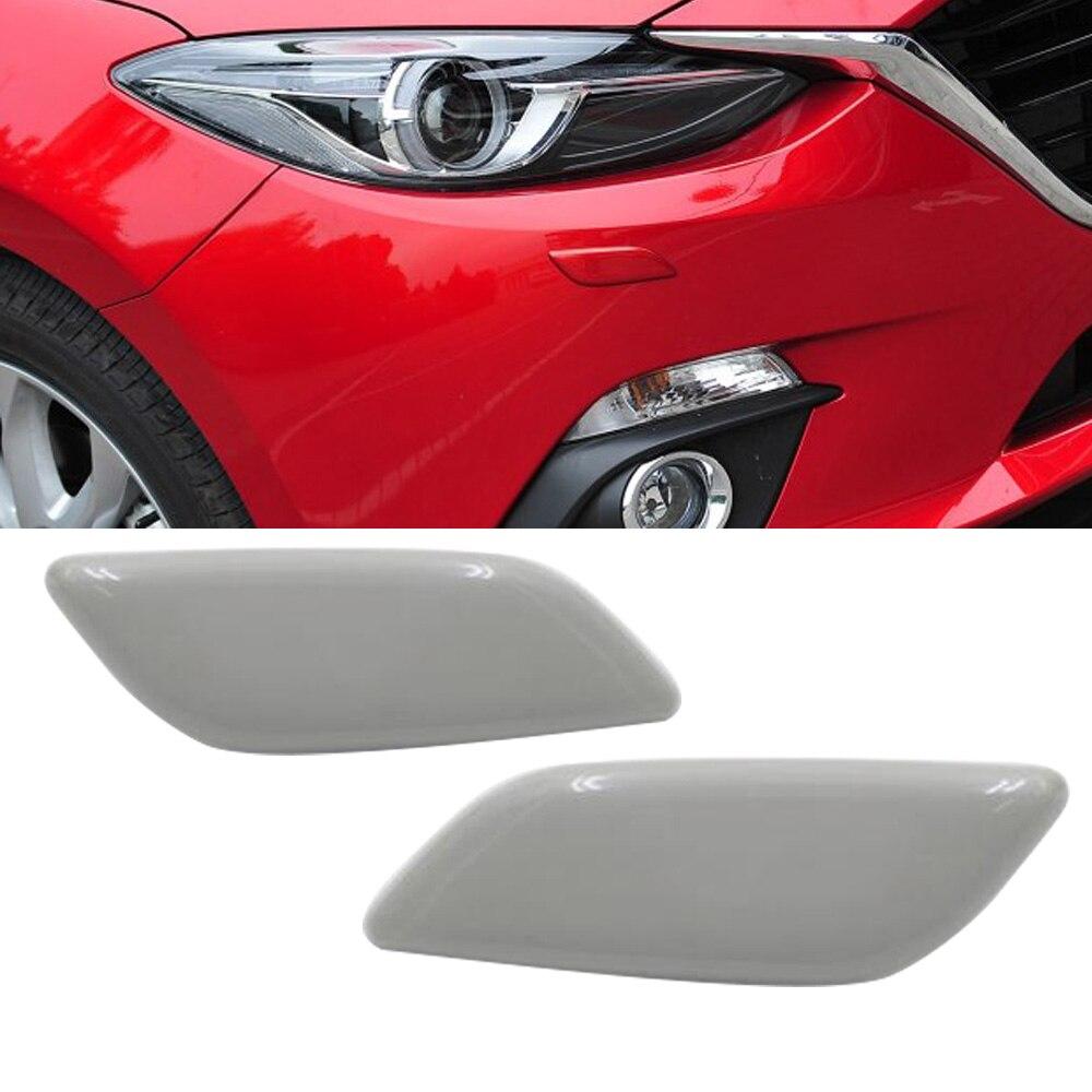 Left Headlamp Headlight Washer Nozzle Jet Cover Cap for Mazda 3 AXELA 2014-2016