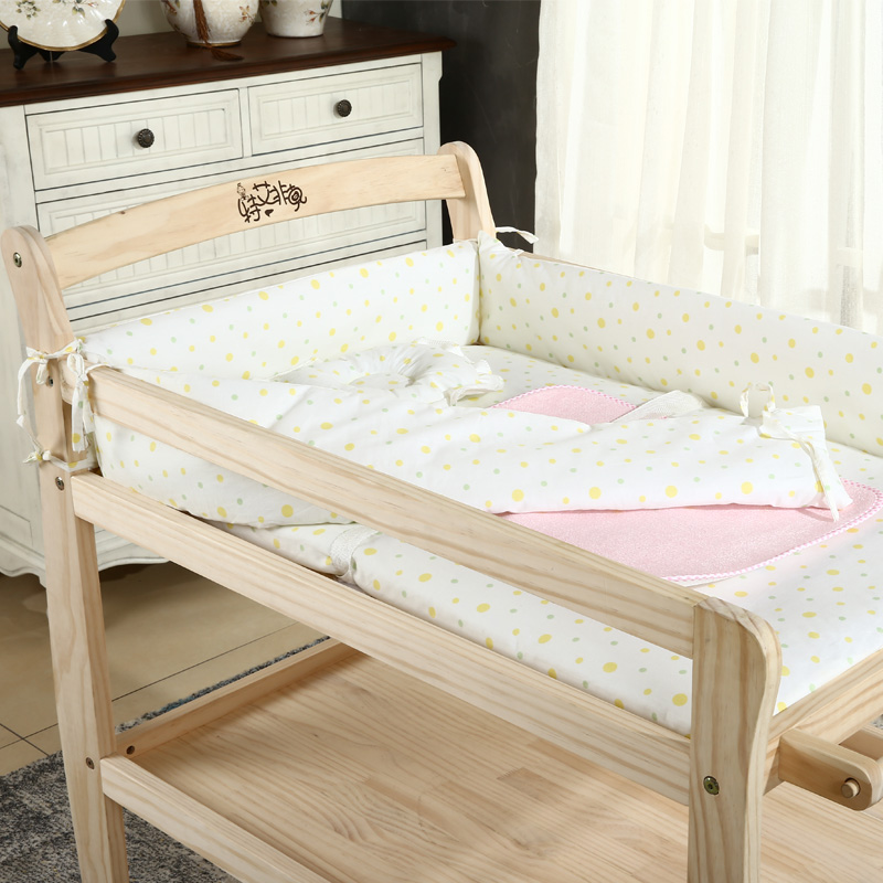 Baby Diaper Table Bath Storage Change Table Large Capacity Multi-function Solid Wood Shower Table