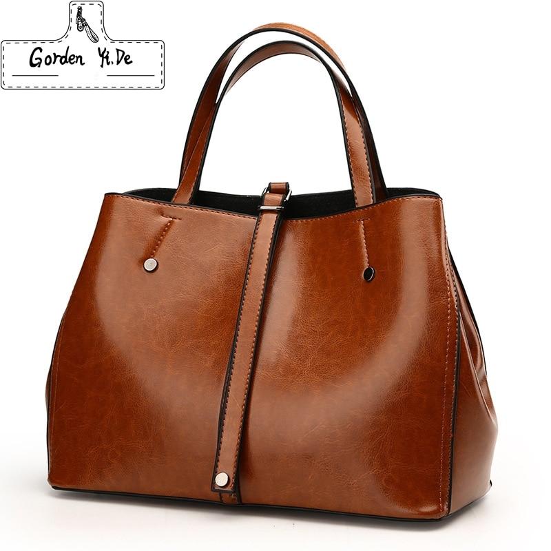 купить Luxury Ladies Boston Bag 2018 Famous Brands Women Genuine Leather Bags High Quality Designer Vintage Messenger Bag Handbags по цене 1908.56 рублей
