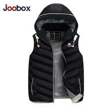 JOOBOX Fashion Winter Vest Men Jacket High Quality Cotton Casual Sleeveless veste homme Thickening Waistcoat Outerwear mans vest