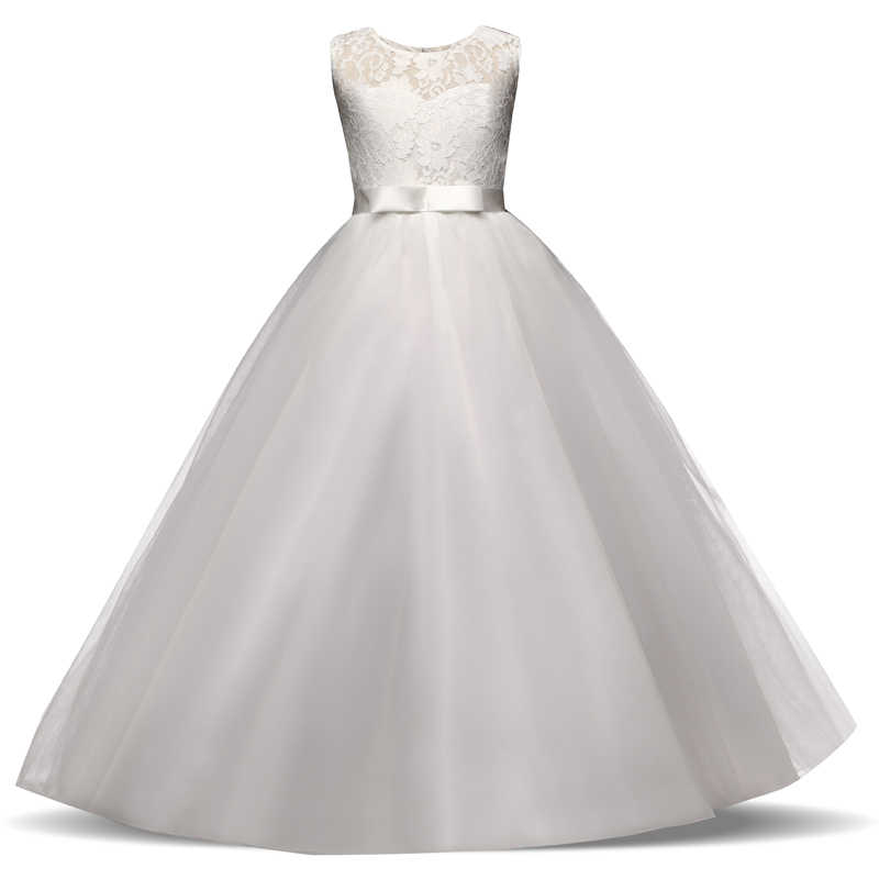 Vestidos De Tul Blanco Exquisito Primera Comunión Para Niñas Vestidos Largos De Fiesta Para Niñas