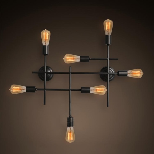 R tro industrielle loft grande edison applique murale for Luminaire mural salon