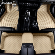 KADULEE изготовленный на заказ автомобильный напольный коврик для ног для peugeot 308 206 508 5008 301 408 2008 207 3008 2012 водонепроницаемый автомобиля аксессуары для укладки волос
