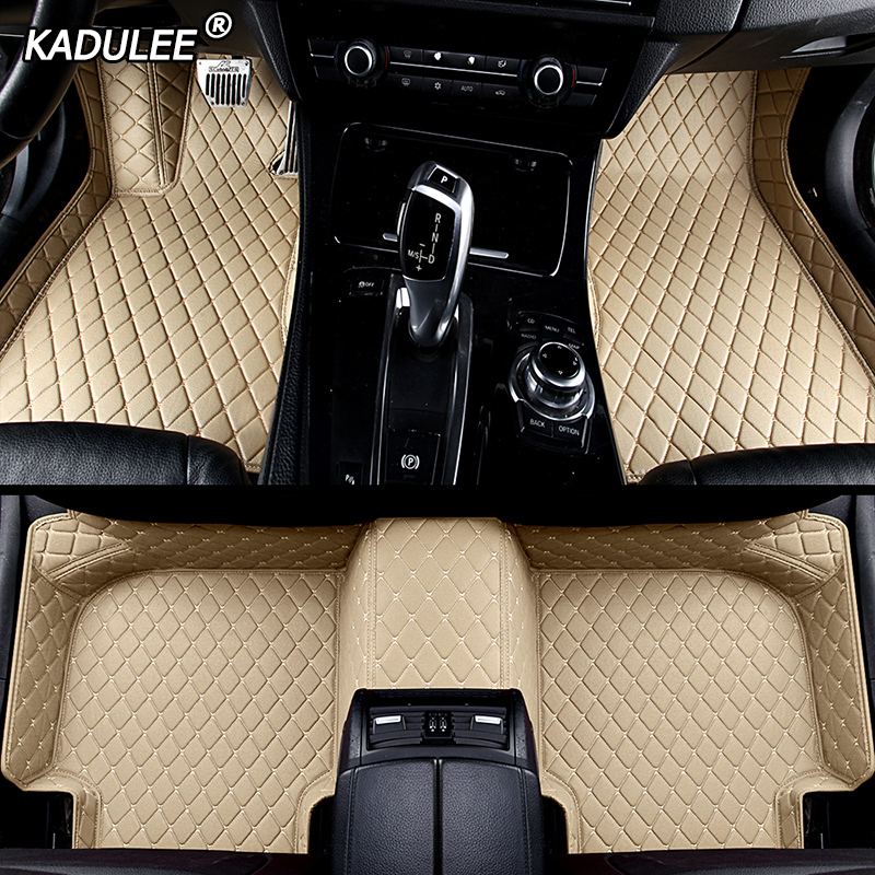 KADULEE Custom Car Floor Mats For Peugeot 308 206 508 5008 301 408 2008 207 3008 4008 RCZ Waterproof Car Accessories Foot Mats
