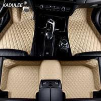 KADULEE personalizada alfombrilla de pies para suelo de coche para peugeot 308, 206, 508, 5008, 301, 408, 2008, 207, 3008, 2012 impermeable coche accesorios de estilo