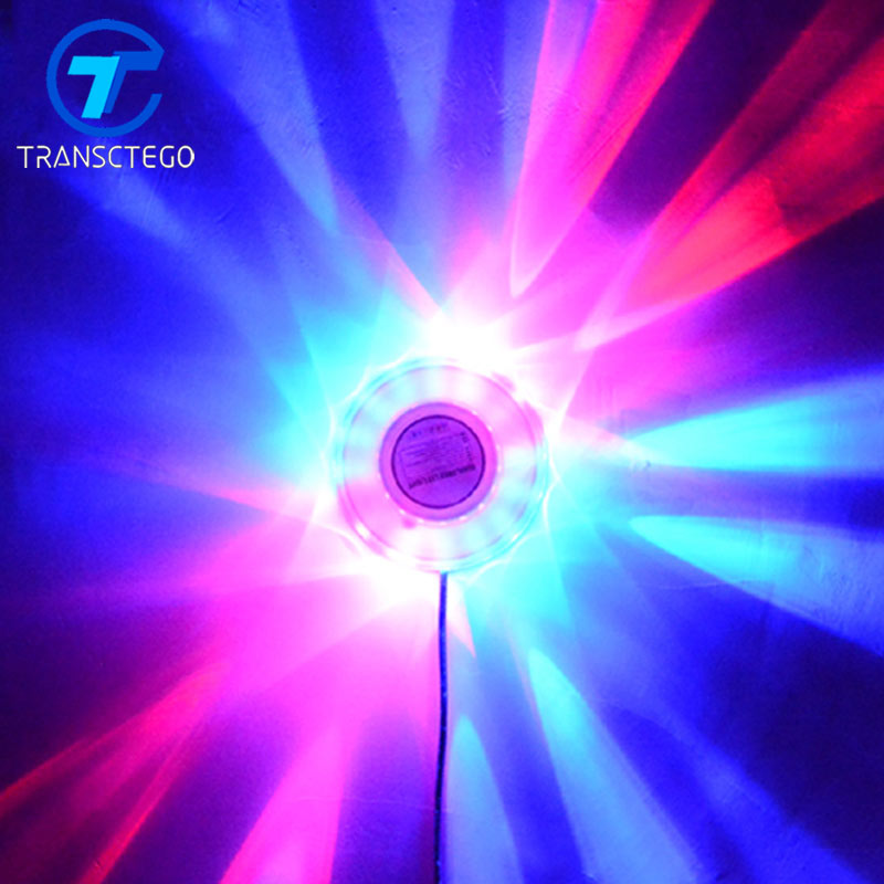 TRANSCTEGO Mini Laser Disco Stage Light 48 Led RGB Proiettore Illuminazione Girasole Bar DJ Sound Background Applique Applique Lampada da festa