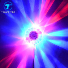 TRANSCTEGO Mini Laser Disco Stage Light 48 Led RGB Projector Lighting Sunflower Bar DJ Sound Background Wall Lights Party Lamp