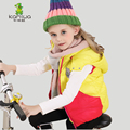 KAMIWA 2016 Girls Winter Coats Down Coats Thicken Girls Vests Teen Cotton-padded Jackets Children's Clothing Kids Clothes