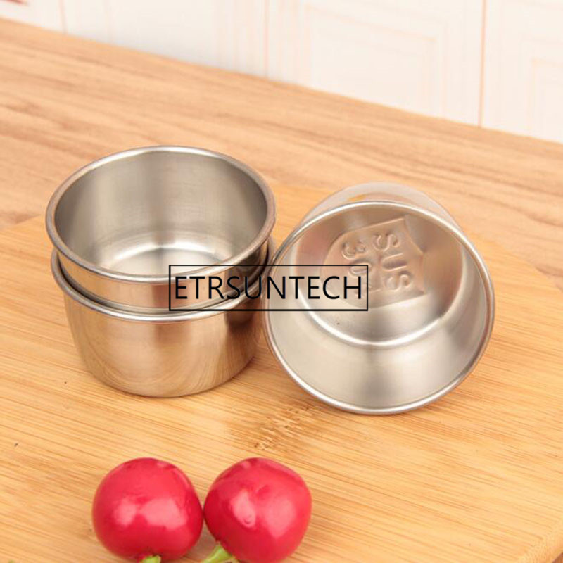 300pcs Stainless Steel Sauce Cup Reusable Tomato Sauce Container Dipping Bowl for Fast Food Restaurant Bar Home image