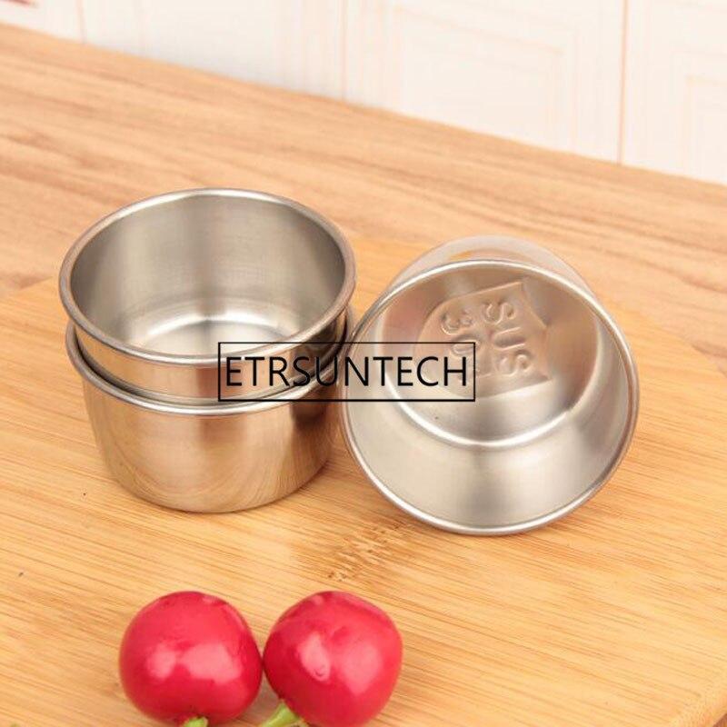 Recipiente para salsa de tomate reutilizable de acero inoxidable 300 Uds. Tazón para salsa para comida rápida restaurante Bar hogar