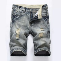Fashion Men S Summer Light Weight Blue Short Jeans Slim Brush Denim Shorts