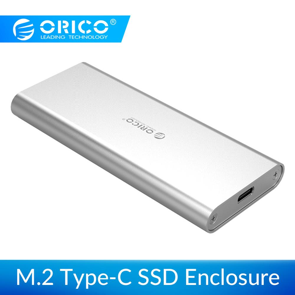 ORICO M.2 Portable SSD Hard Disk Cases M.2 To Type-C USB3.1 Hard Drive Aluminum Enclosure For 2230/2242/2260/2280 M.2 B-Key 2TB