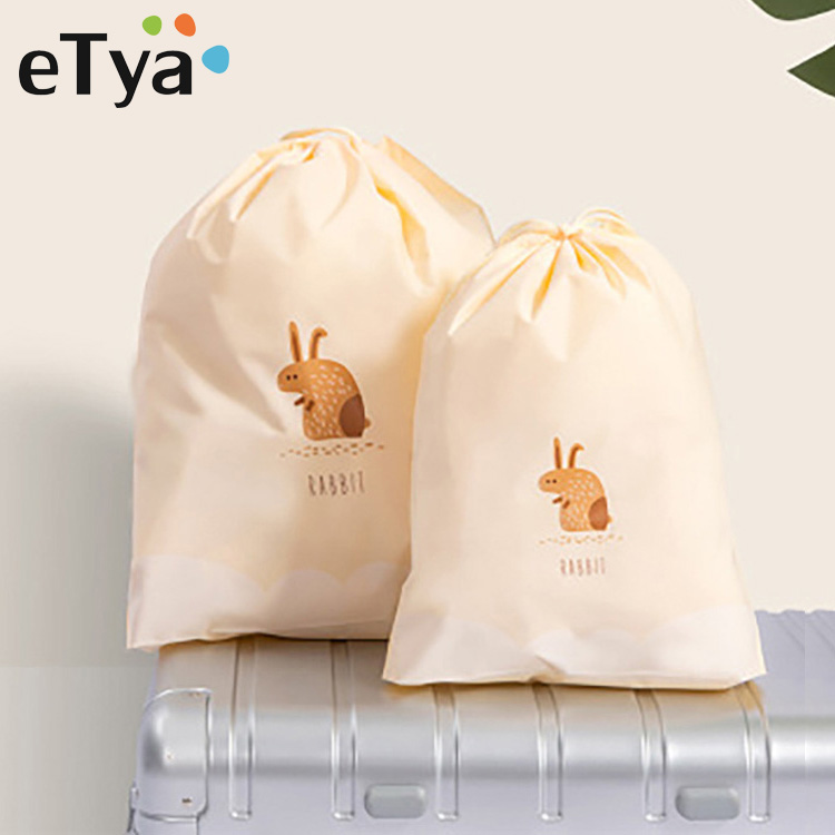 ETya Women Travel Pouch Drawstring Cosmetic Bag Organizer Cute Cartoon Clothes Shoes Storage Case Toiletry Kit Tools Wash Bags