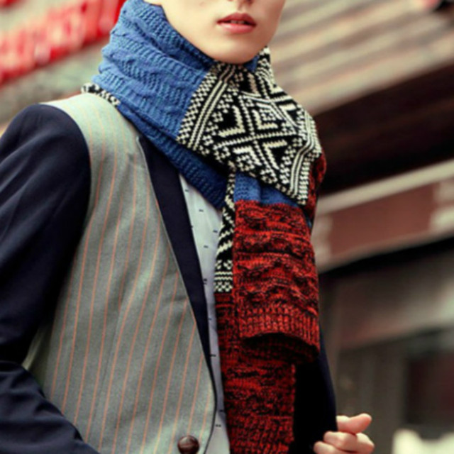 d169849e303b8 2017 scarf men cashmere knitted scarf shawl Autumn winter warm wool scarves  man male long multi