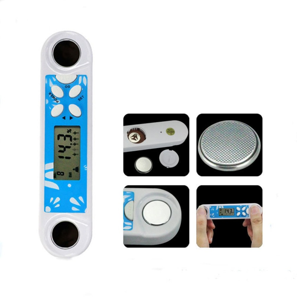 Multifunction Fat Tester Adipose Body Fitness Measuring Instruments Mini Portable Digital Fat Analyzer with Clock Function bodecoder digital fitness express bia body fat monitor fat analyzer body health white home using analysis report